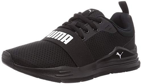 PUMA Wired Run JR, Zapatillas, Negro, Blanco, 38 EU