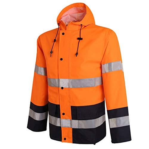 Zunruishop Hoge Zichtbaarheid Veiligheidsvest Reflecterende regenjas lange fietsen outdoor klimmen werkkleding veiligheid ademende sanitaire kleding voor mannen en vrouwen Reflecterende Vest