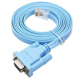 VANDESAIL USB RJ45 シリアル コンソールケーブル Cisco 互換ケーブル 1.8m FTDIチップ搭載 (1.8m USB RJ45)
