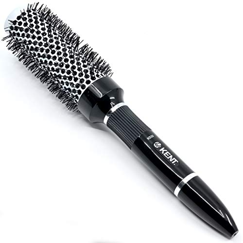 Kent KS30 Nylon Radial Salon Hair Brush With Heat Reflecting Core (33mm Diameter) - For Styling, Straight Blow-Dry, and Easy Curling