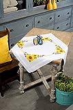 Vervaco Tischdecke Sonnenblümchen Kit de Punto de Cruz pre-Impreso, algodón, Multicolor, 80.0 x 80.0 x 0.30000000000000004 cm