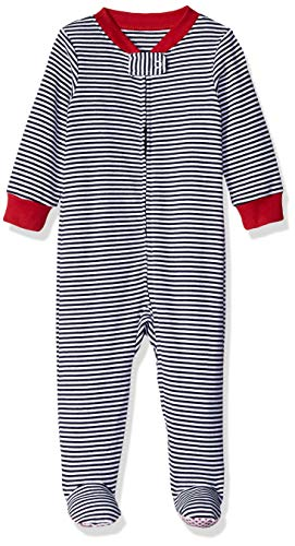 Amazon Essentials Girls' Infant Baby Zip-Front Footed Sleep and Play