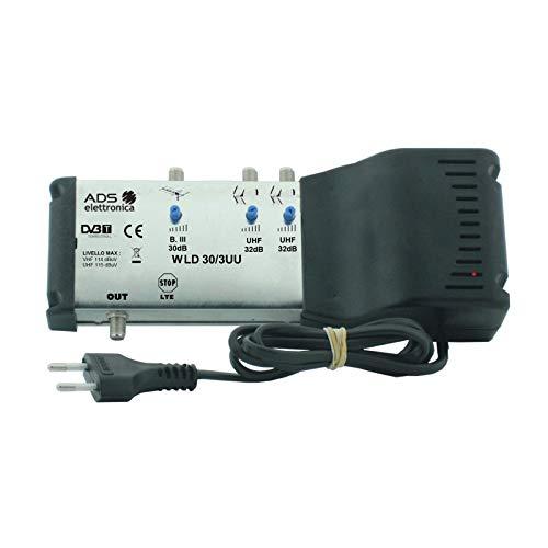 Centrale DTT multingresso sottotetto autoalimentata per la distribuzione di segnali TV da più antenne.
