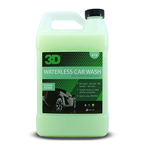 3D Waterless Car Wash - Bigodegradable Quick No Soap or Water Needed Easy Spray on Express Wash & Clean 1 Gallon
