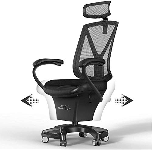 SWINGSIT Active Sitting Chair, Get Fit and Active While Sitting, Continuous Movement, Improve Circulation and Burn Calories, for Home and Office [F Series]