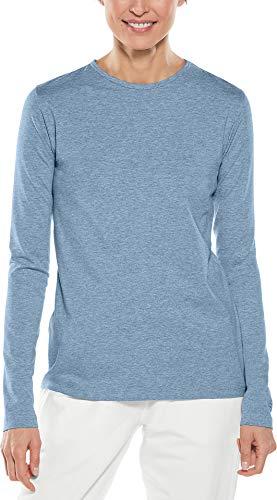 Coolibar UPF 50+ Women's Morada Everyday Long Sleeve T-Shirt - Sun Protective (Large- Light Blue...