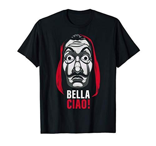 Netflix La Casa De Papel Bella Ciao Mask Camiseta
