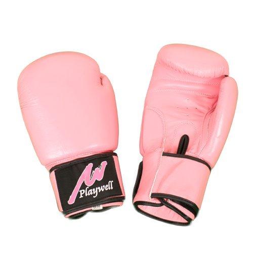 Playwell Guantes de Boxeo Pro Piel Mujer Rosa - 10oz