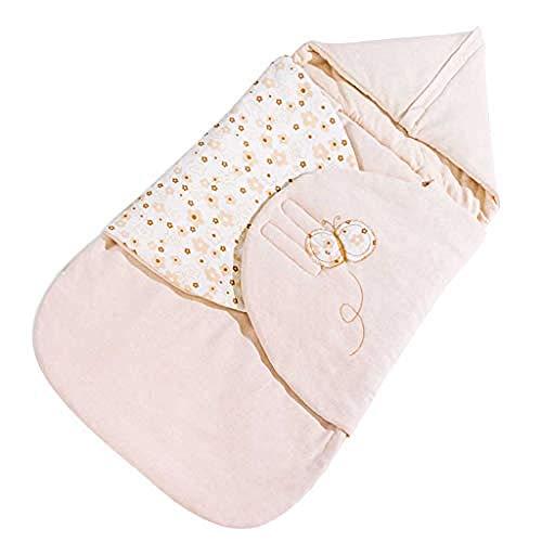 Baby Winter Deken voor kinderwagens Baby Anti-Startled Handdoek Baby Katoen Swaddle Baby Slaapzak Vier Seizoenen Winter(85cm|) (Kleur : dik) Dünn