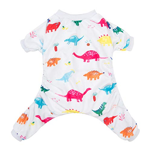 CuteBone White Dino Dog Pajamas