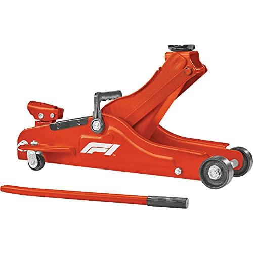Formula 1 hydraulischer Rangierwagenheber 2 Tonnen, KFZ-Wagenheber flach, mit Tragegriff, für tiefergelegte Autos und Sportwagen