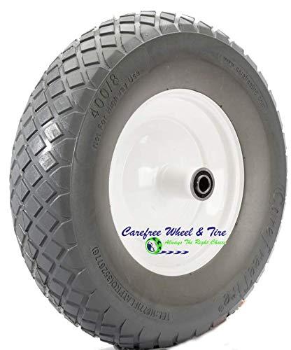 Flat Free 4.80/4.00-8 Diamond Tread, Wheelbarrow Wheel (6