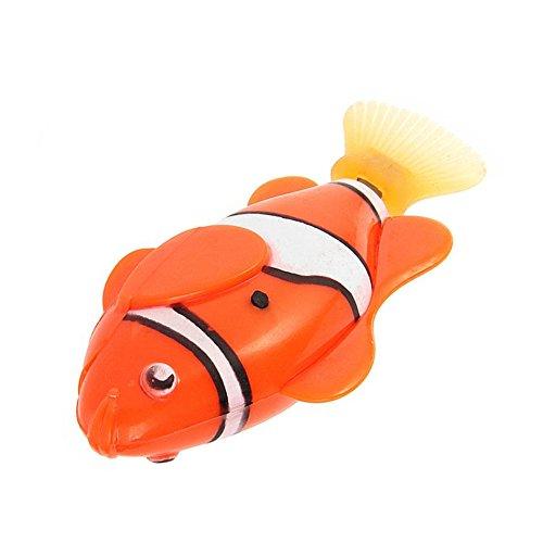 Wicemoon Robofish, Fisch-Spielzeug, batteriebetriebenes Badewannenspielzeug Orange