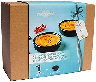 MASTRAD - Coffret Crèmes Brûlées - 1 Chalumeau De Cuisine - 4 ramequins