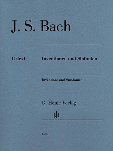 Inventionen und Sinfonien für Klavier BWV 772-801, Ausgabe ohne Fingersatz