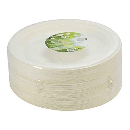 paperlynen Piatto Rotondo in polpa di cellulosa diam 23 50pz