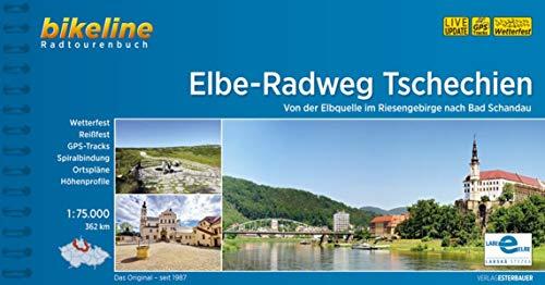 Elbe-Radweg Tschechien: Von der Elbquelle im Riesengebirge nach Bad Schandau, 1:75.000, 362 km, wetterfest/reißfest, GPS-Tracks Download, LiveUpdate (Bikeline Radtourenbücher)