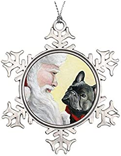 HO 057 Fawn Christmas Ornament 3 Porcelain Gift-Boxed with Tree Hook and Magnet Pet Holiday Decoration Bundle by Imprints Plus Bullmastiff