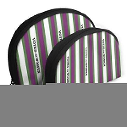 JDISJLJ メイクアップバッグ レディース ポータブルシェル メイクアップストレージバッグ - 女性用メッセージ グリーンとパープル トラベルオーガナイザーケース メイクアップバッグ
