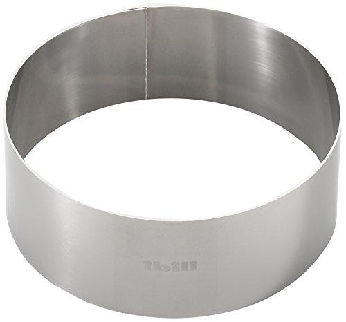 Ibili Clasica Dessertring rund, 12 cm Durchmesser, 4,5 cm Höhe, 1 Stück