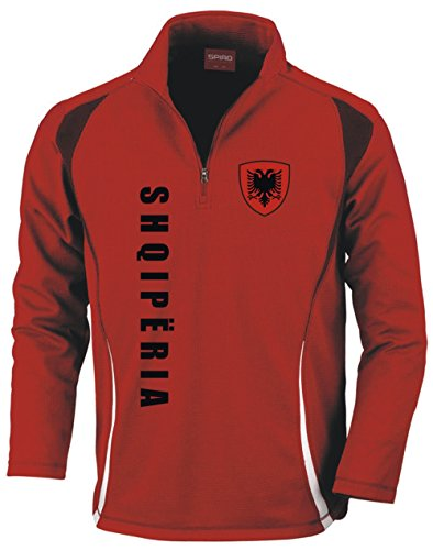 Aprom-Sports Albanien Trainingstop - Fussball Sport - Rot (XL)