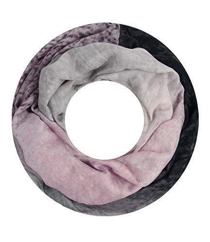 Majea Majea Damen Loop Schal Schlauchschal Halstuch (880021) (rosa 29)