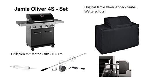 Preisvergleich Produktbild Jamie Oliver Gasgrill 'BBQ Home 4 S' 4+1 Brenner incl. Grillspieß mit Motor und original Abdeckhaube.