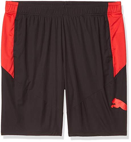 PUMA Cat Pantalones Cortos Grandes y Altos Black-High Risk Rojo, 50 para Hombre