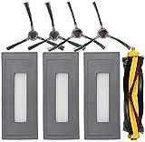 NICERE Recambios de Aspiradora 1 Cepillo Principal 3 Filtros 4 Cepillos Laterales Accesorios para Ecovacs Deebot Ozmo 930 Aspiradora