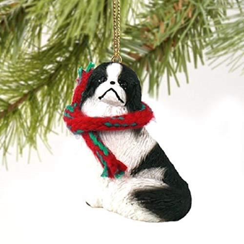 Conversation Concepts Japanese Chin Miniature Dog Ornament - Black & White