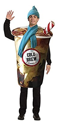 Rasta Imposta Cold Brew Coffee Cup Costume Funny Hat Scarf for Adult Mens Womens