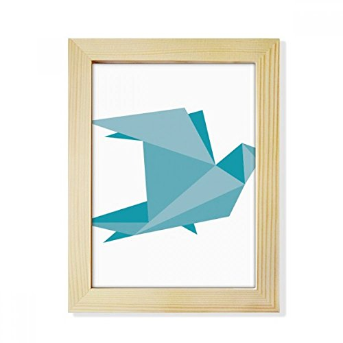 DIYthinker Grüne Origami Abstrakt Pigeon Muster Desktop-HÖlz-Bilderrahmen Fotokunst-Malerei Passend 15.2 x 20.2cm (6 x 8 Zoll) Bild Mehrfarbig