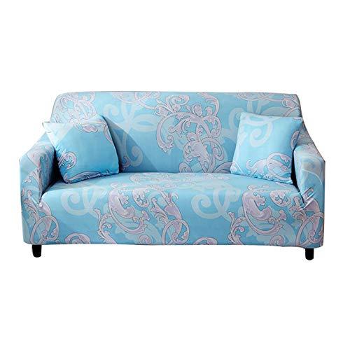 R&P Funda de Sofá Antideslizante 1/2/3/4 Plazas Universal Funda Cubre Sofas Elástica Bohemio Estampada Funda para Sofá Chaise Longue, Forma de L Necesita Comprar 2 Piezas,E,3 Seat