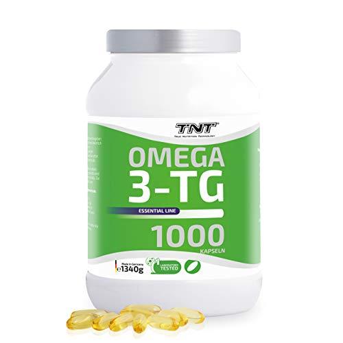 1000 Premium Omega 3 Kapseln Hochdosiert – Reines Fischöl mit EPA & DHA ohne Zusätze – Laborgeprüft