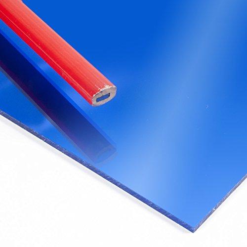 Metacrilato espejo Azul - DINA5 x 3 mm