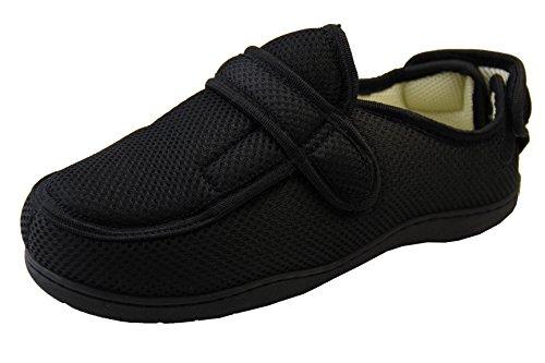 Zapatillas ortopédicas Footwear Studio con velcro ajustable para hombres, color Negro, talla 37/38 EU