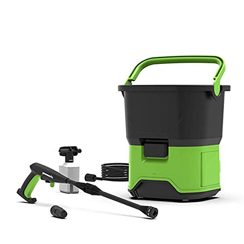 QWERTOUY draagbare draadloze elektrische hogedrukreiniger 650 W 40 V multifunctionele groen wasmachine voor auto scheepdek enz.