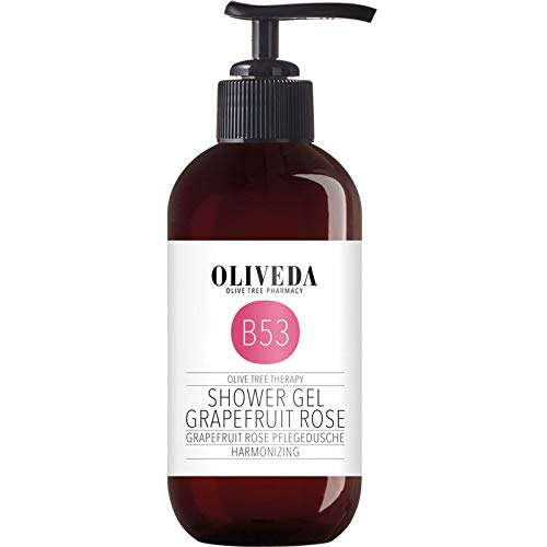 Oliveda B53 - Pflegedusche Grapefruit Rose | pflegendes Moisture Duschgel | Verwöhndusche | zarte Pflege | trockene Haut - 250 ml