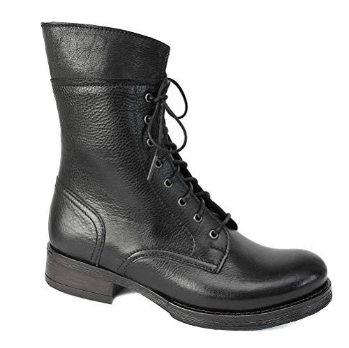 Brako Stiefel Boots 6738 Traviata Negro Alba Leder schwarz m. Reißverschluss NEU (39 EU)