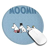 ムーミン 丸型 マウスパッド ゲーミングマウスパッド パソコン 周辺機器 光学式マウス対応 オフィス自宅兼用 防水 洗える 滑り止め 高級感 耐久性が良い 20*20cm