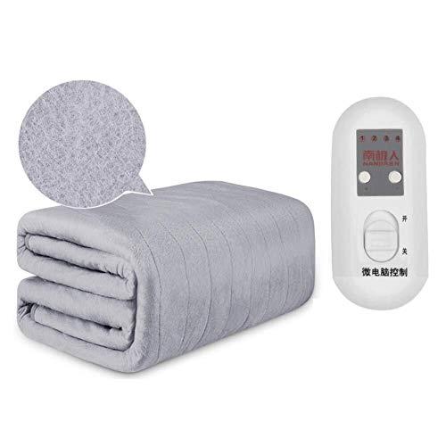 HFS Elektrische deken, ultrazachte, warme deken, geklimatiseerd, box zonder straling, vier thermostaat, dubbele thermostaat, 200 x 180 cm