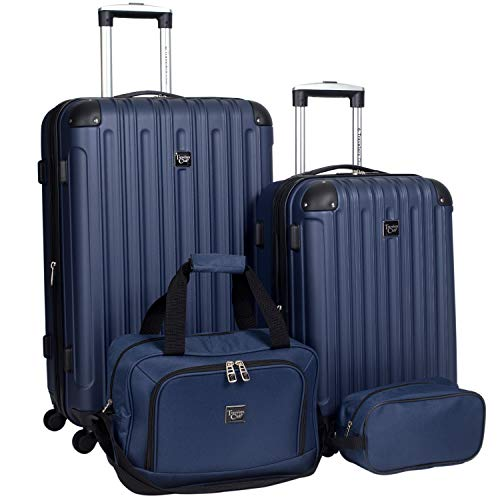 Travelers Club 4 Piece Set, Navy Blue, 4 PC