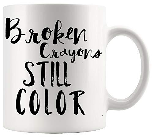 Teacher Mug Teaching Cup - Broken Crayons Still Color Preschool Teachers Draw Drawing Kid Children White Mugs Cups