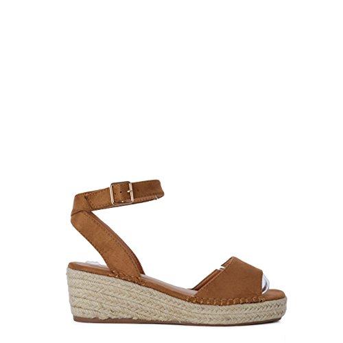 Sandalias de Mujer con Plataforma Estilo Alpargata con Suela de Yute SS19