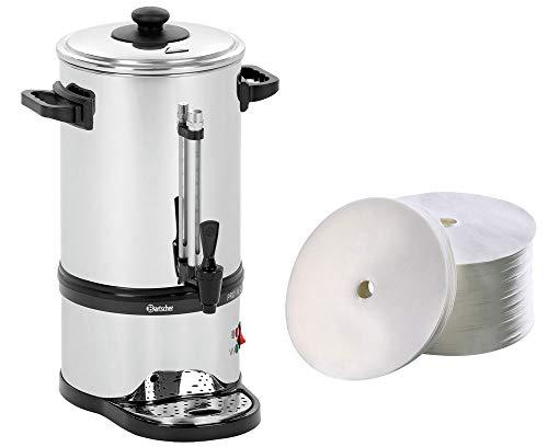 Bartscher Rundfilter Kaffeemaschine Pro II 40T + 250 Rundfilter