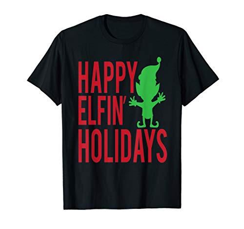 Funny Weihnachten Shirt Elf Elfen Happy flecejacke Urlaub