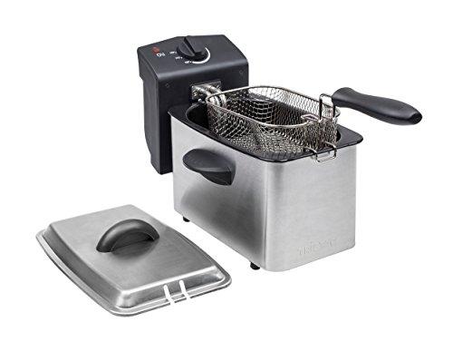 Tristar Edelstahl Fritteuse - mit 2 Liter Fassungsvermögen, Kaltzonefunktion und einstellbarem Thermostat bis 190°C, FR-6919
