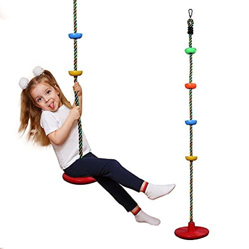 Tellerschaukel Kletterseil Nestschaukel Für Kinder Outdoor Spielzeug, Belastbarkeit bis zu 200 KG | Verstellbar Schaukelsitz Wetterfest Gartenschaukel für Jungen und Mädchen ab 3 Jahr Geschenk