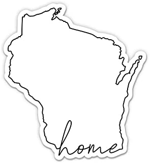 Wisconsin Decal Sticker for Car Wall or Laptop
