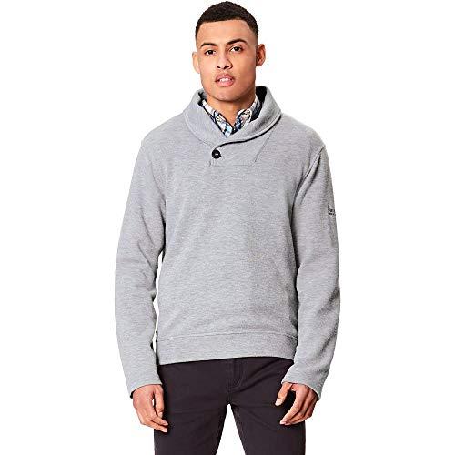 Regatta Herren Travon Schal Hals Button Fleece XL Rock Grey
